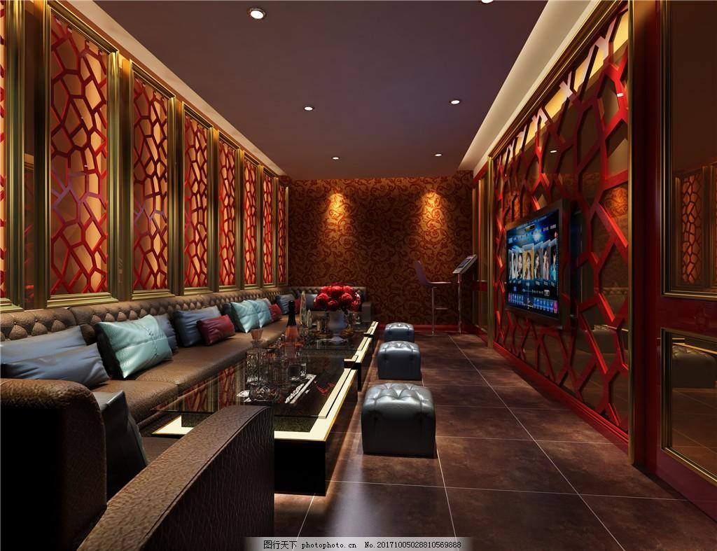 现代简约家庭式k歌房装修实景图 环境设计 休息室 室内装修 ktv 家居