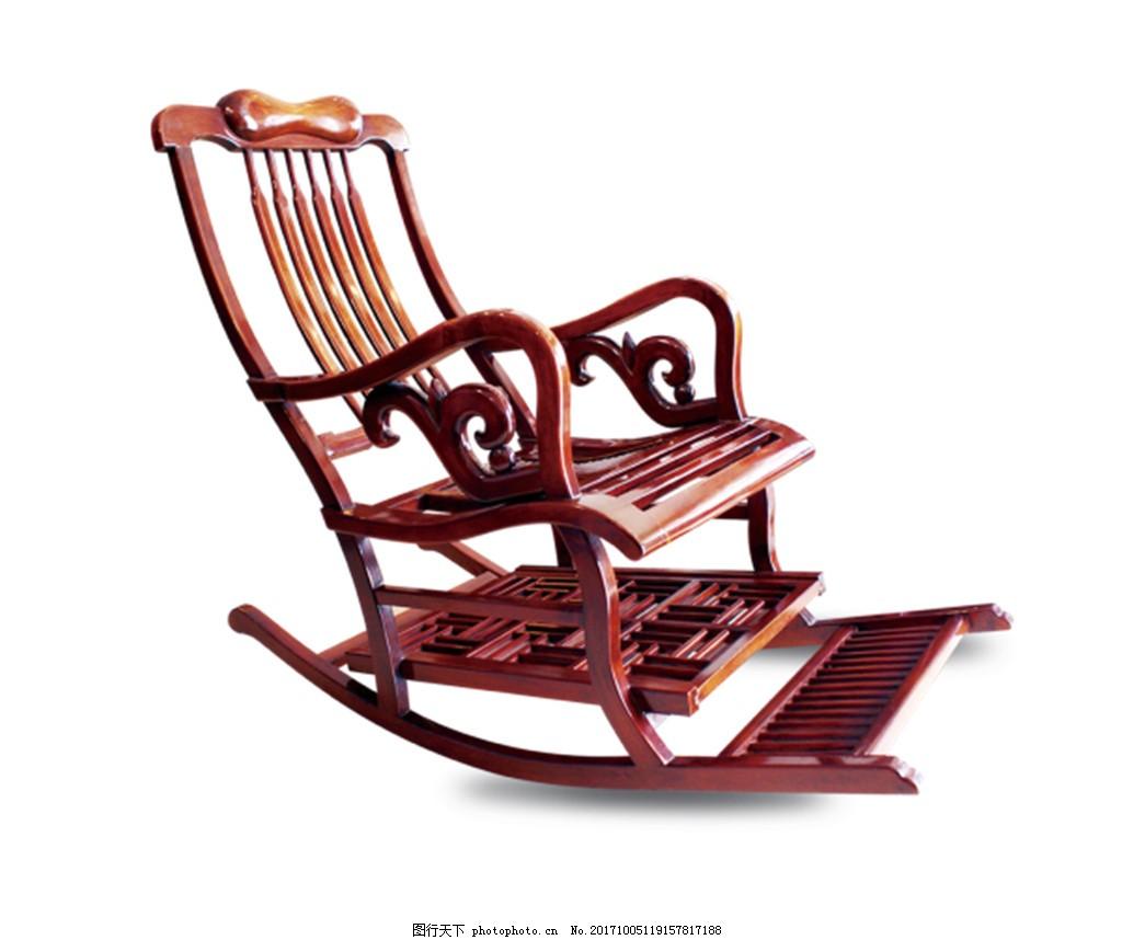 古代实木摇椅实物元素 中国风 复古风 古典艺术 木椅 实木座椅