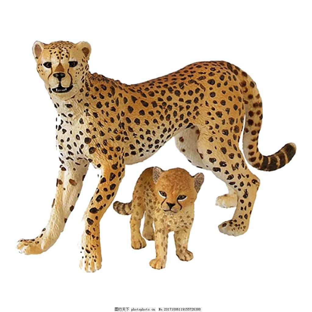豹子母子图片免抠png透明素材,两只豹子图片 两只豹子