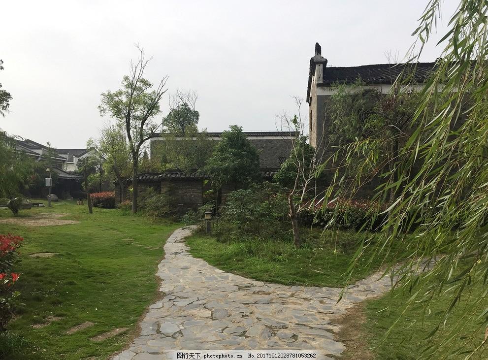 中国古代民居 中式民居 中式园林 小径 清幽小径 古风建筑 建筑照片