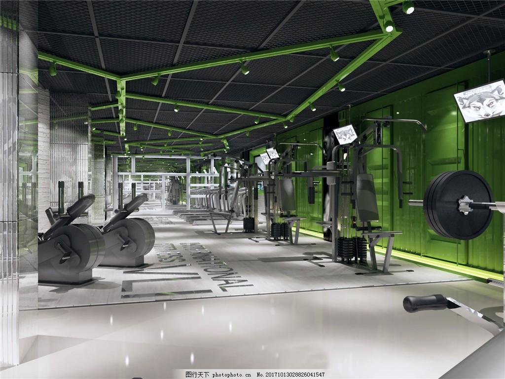 高档大气健身房装修效果图