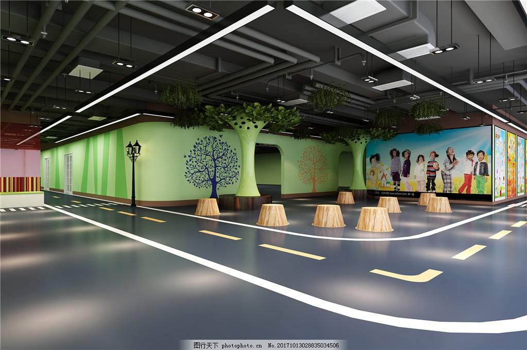 现代幼儿园室内设计效果图 欧式风格 简约风格 现代家居 家装设计