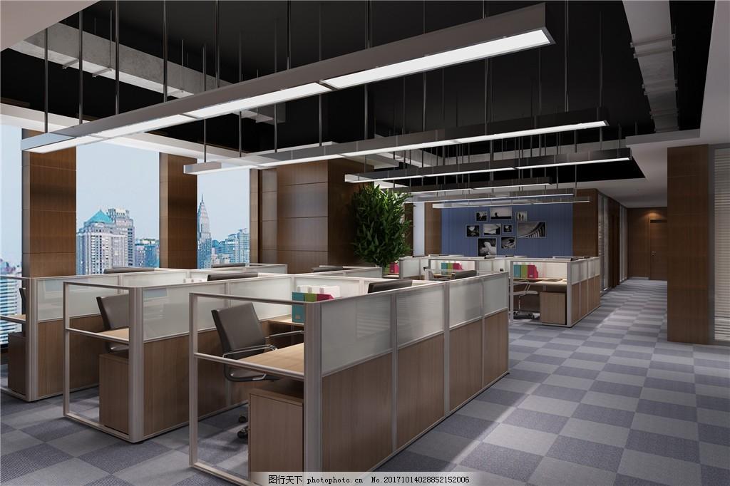 欧式简洁型办公室装修效果图