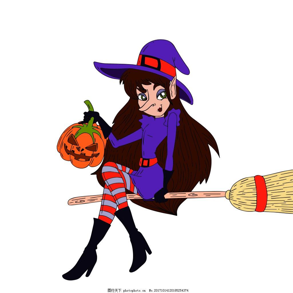 万圣节魔女 矢量png 魔女 魔法女巫 万圣节 万圣节女巫 卡通女巫 矢量