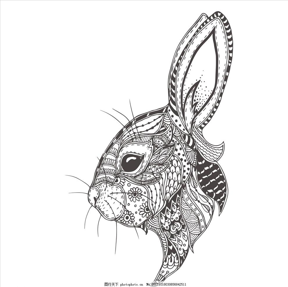 手绘线描黑白动物矢量图下载 外包装设计 吊牌包装模板 服装设计 服装印花 布料印花 面料印花 卡通设计 动画素材 传统东方素材 传统图案 中国风 民族风图案 手绘动物 卡通动物 民族风动物 线描民族风 工笔画 卡通民族风 线描黑白动物 纹身图案 纹身矢量图 动物纹身 线描动物纹身 黑白动物 兔子 大白兔 卡通兔子 手绘兔子 线描黑白动物矢量图 设计 广告设计 服装设计 EPS