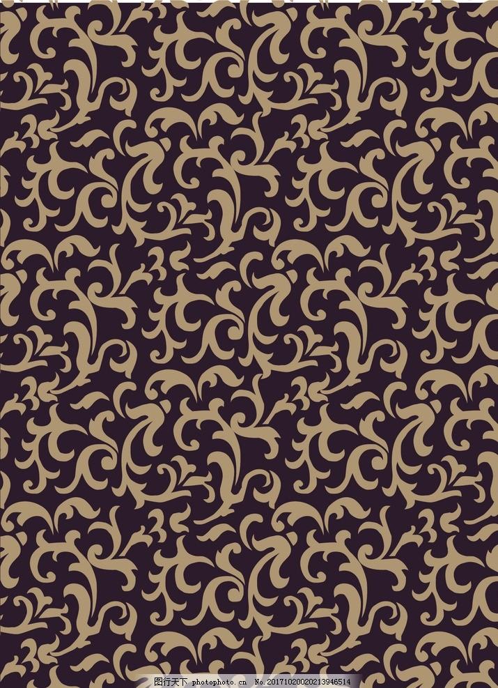 纹样背景 底纹 花纹 菱形 墙纸 叶子 流动 曲线 欧式 壁纸