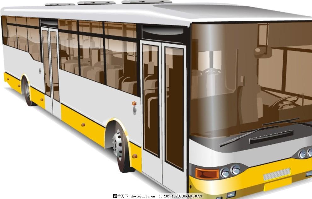 卡通动漫公交车