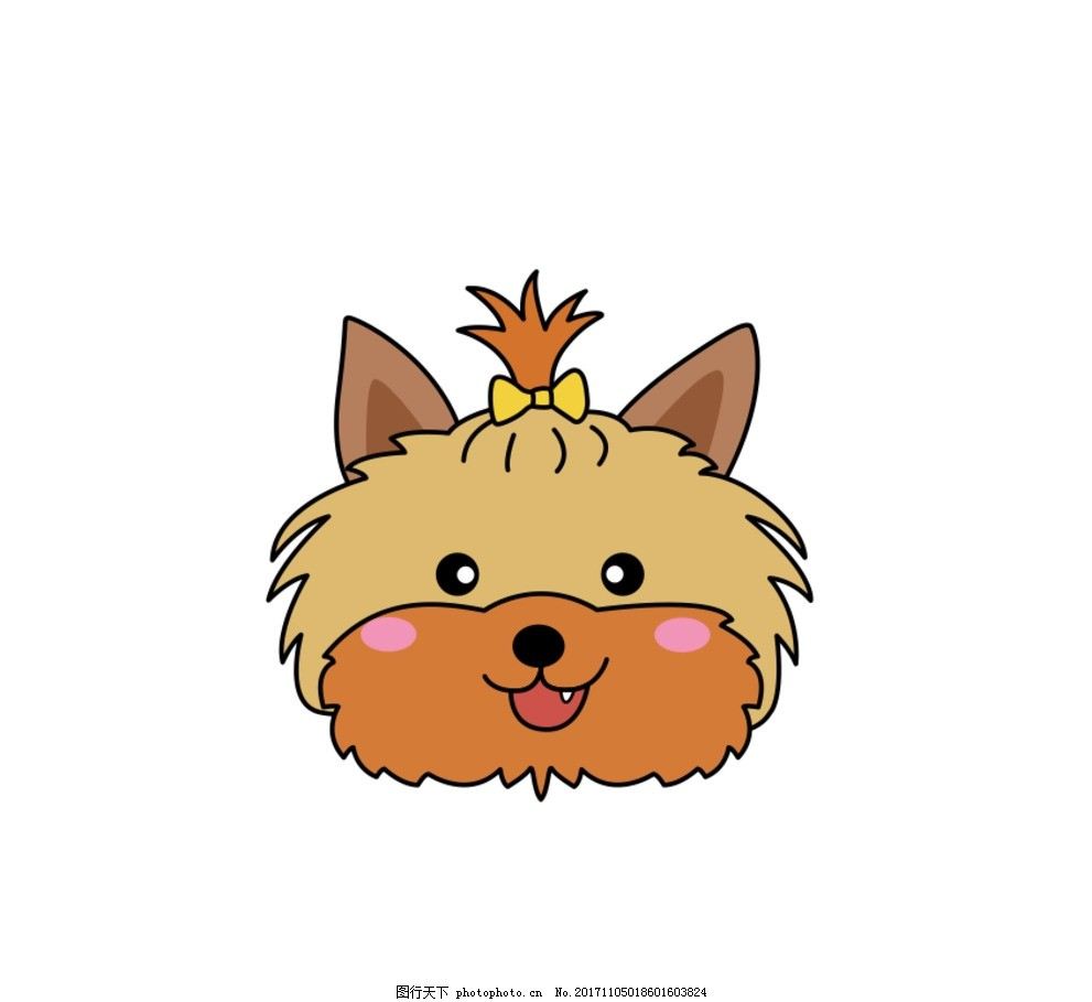 狗卡通 动物 十二生肖 戴围巾的狗 戴帽子的狗 可爱 可爱的狗