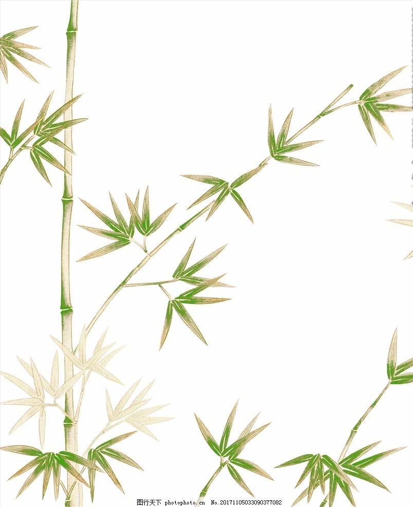 手绘 竹子 手绘竹子 高精度 绿色 美术绘画 高精素材 竹林 绘画书法