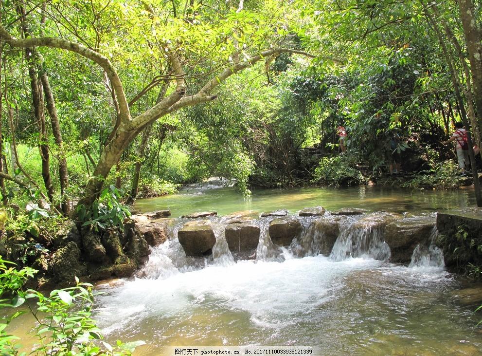 水上森林 贵州 荔波 小七孔桥景区 泉流 石头 摄影 旅游摄影