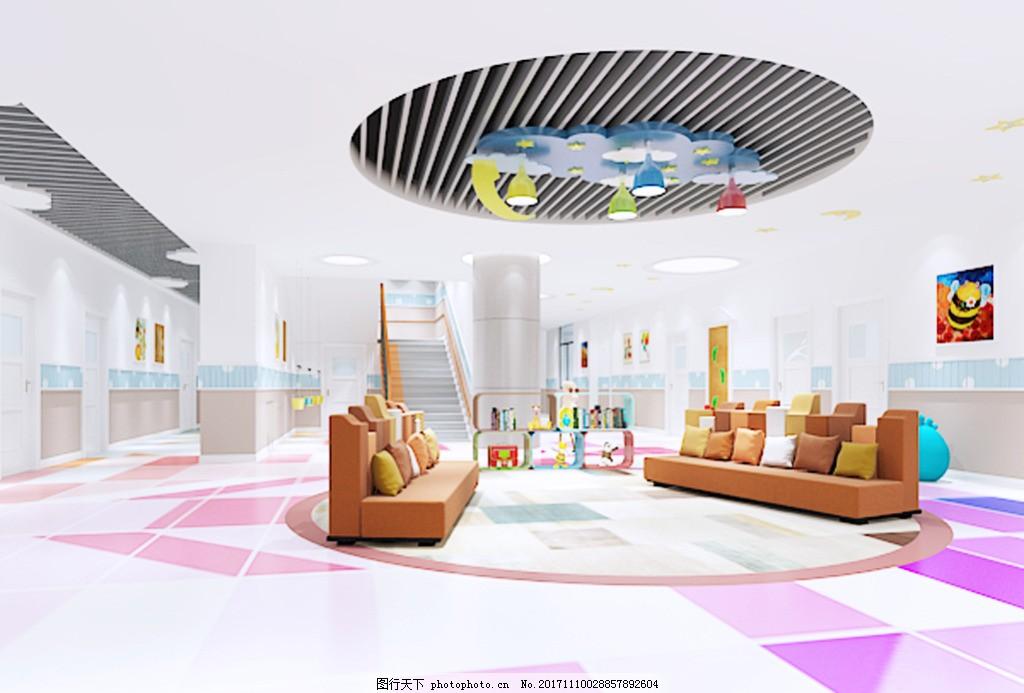 室内设计3d效果图午托班辅导班艺术中心