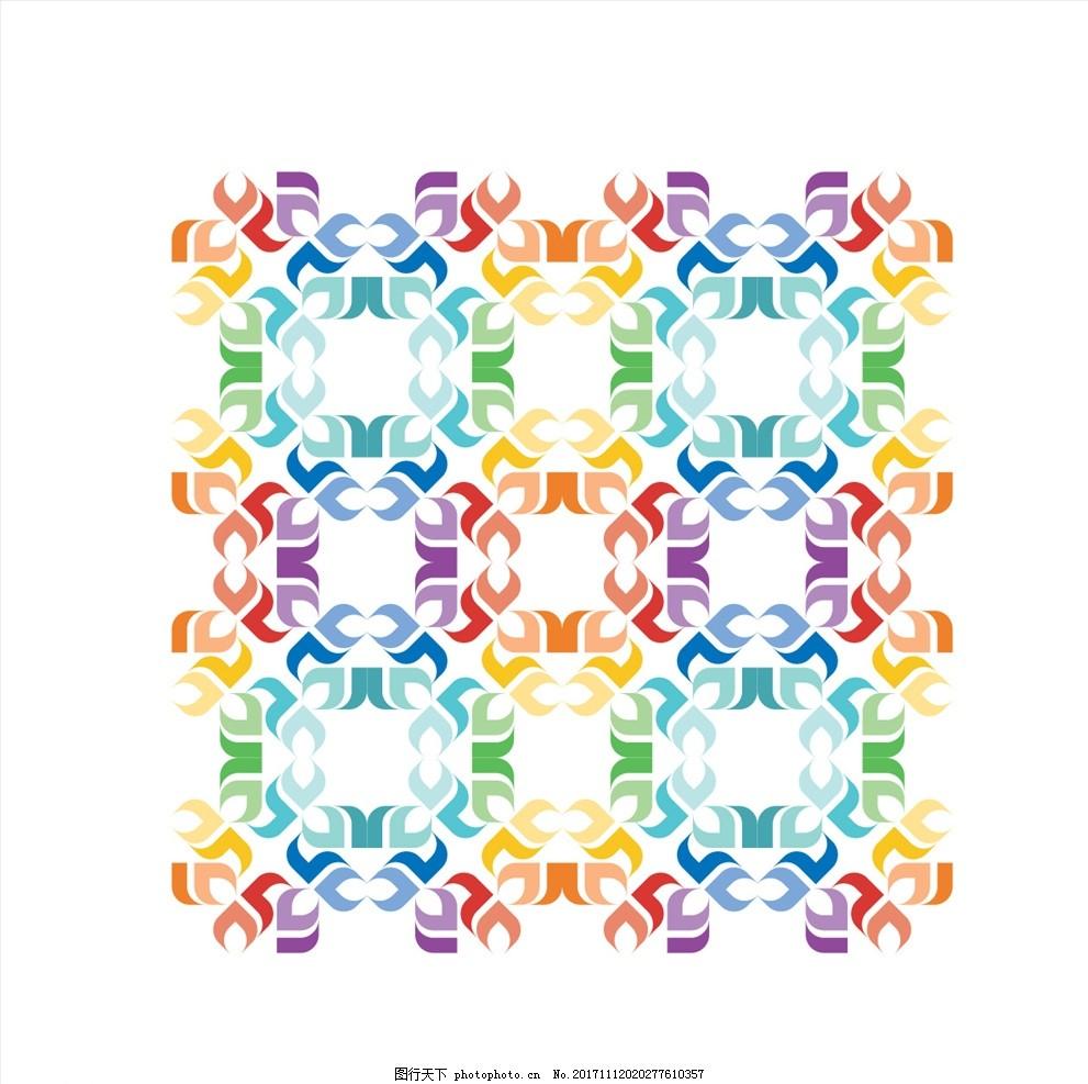 民族风花纹 花纹背景 移门图案 典雅花纹 创意花纹 花纹样式 装饰花纹