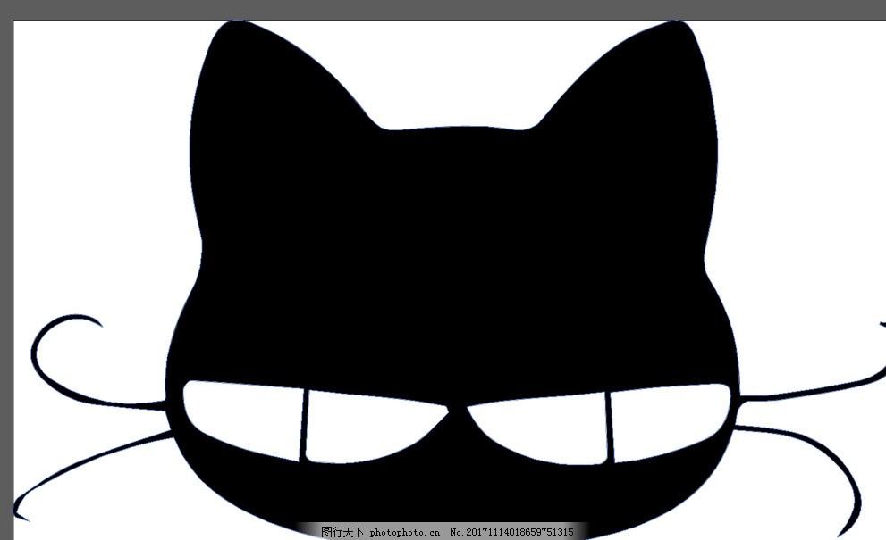 黑色小猫 卡通 漫画 矢量 可爱 动漫动画