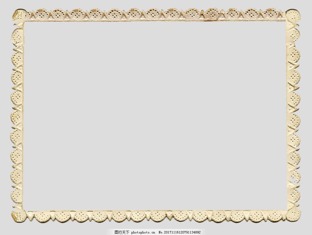 米黄色欧式边框免抠psd透明素材