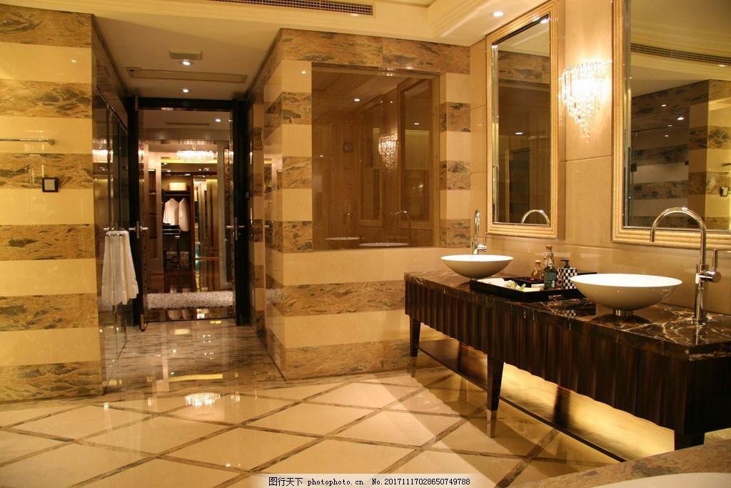 设计图库 环境设计 家居设计  洗漱台卫生间过道效果图 洗漱台 欧式