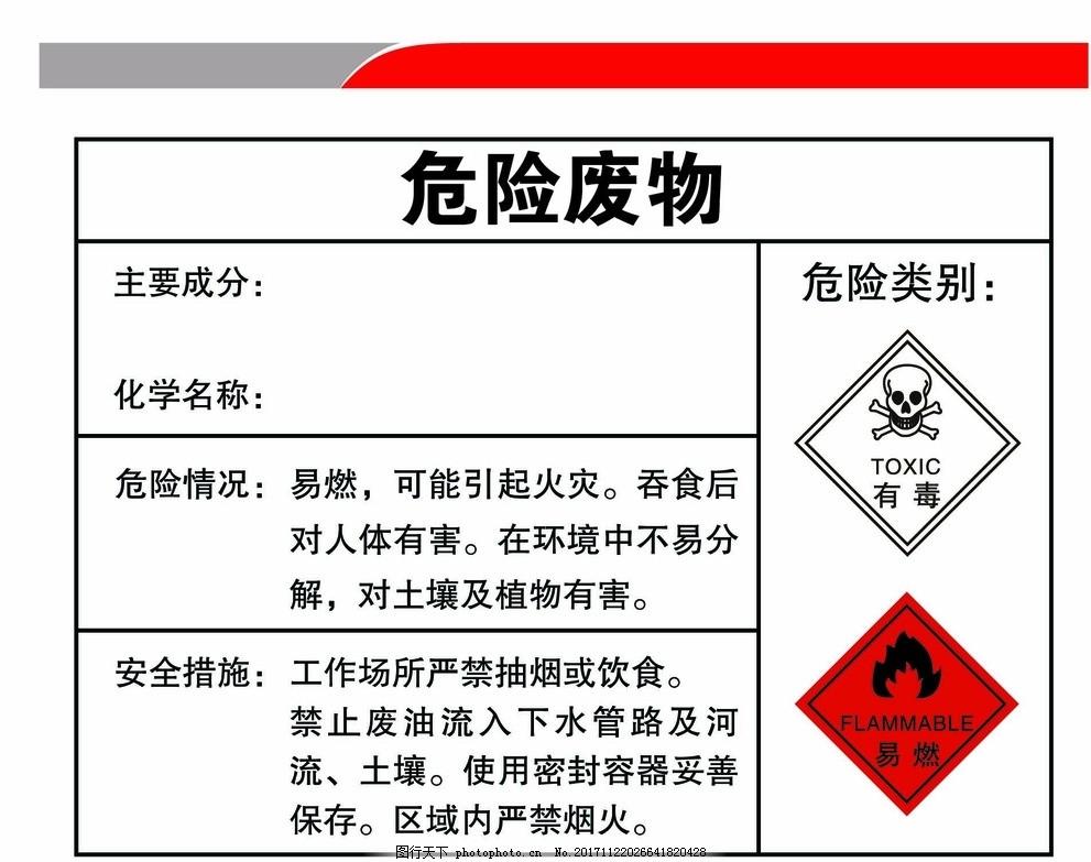 危险废物 展板 有毒 易燃 有毒物标识 现代科技 工业生产