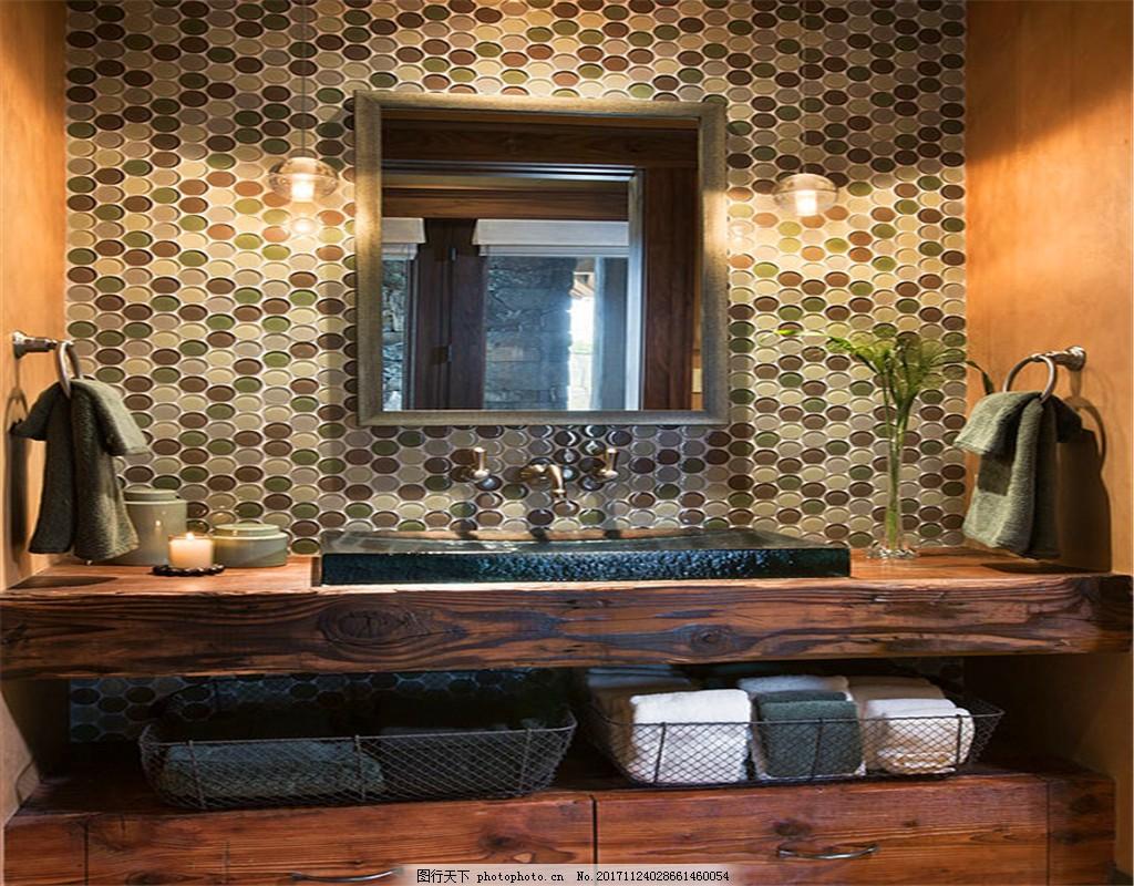 雨花石图案室内墙纸效果图