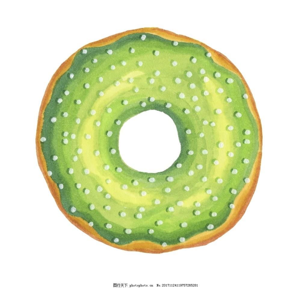 绿色甜甜圈卡通透明素材