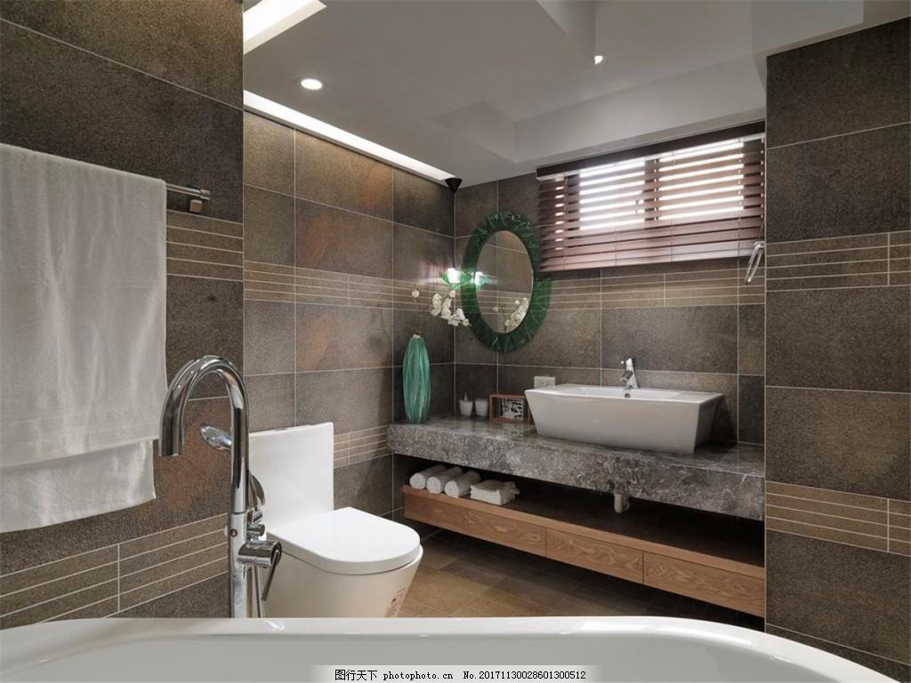 简约卫生间白色射灯装修效果图 方形吊顶 洗手盆 马桶 浴缸 灰色墙壁