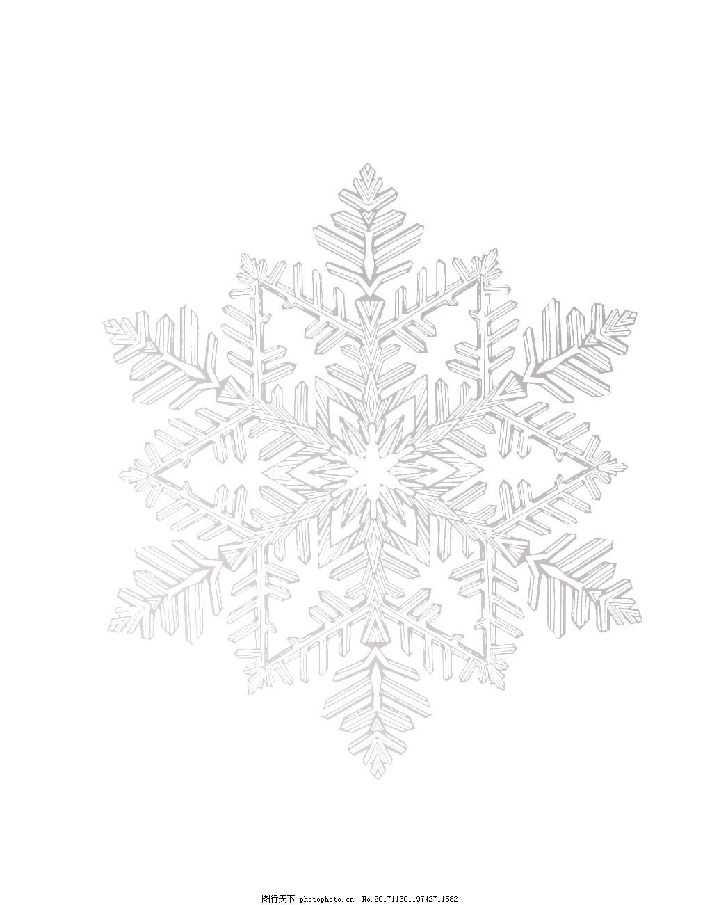 雪花图片简笔画手绘