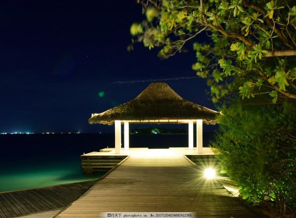 马尔代夫夜景 碧海蓝天 仙境 梦境 大海 海洋 唯美海洋 海水