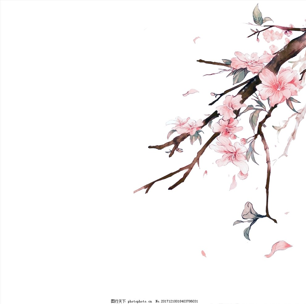 多重曝光桃花 春景 花朵 摄影 生物世界 花草 设计 动漫动画 风景漫画