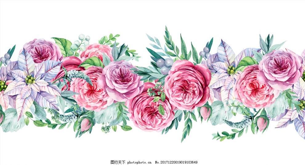 水彩花卉 森系 插画 手绘 水彩画 花卉素材 花卉插画 清新 花卉背景