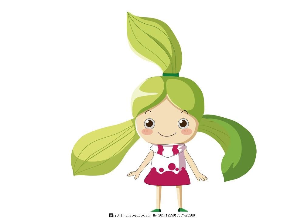 卡通形象 春兰 女孩 可爱 春天 动漫动画