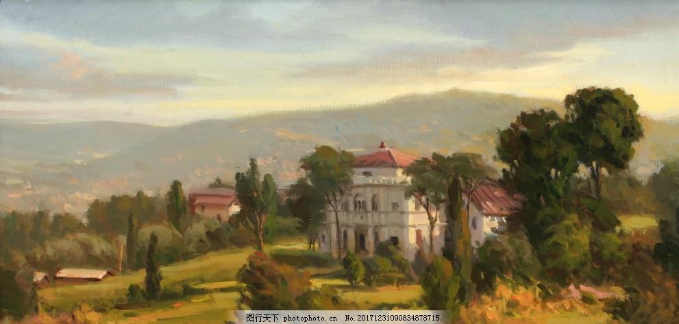 风景油画 油画风景 山水风景油画 欧式风景油画 欧式壁画 欧式油画