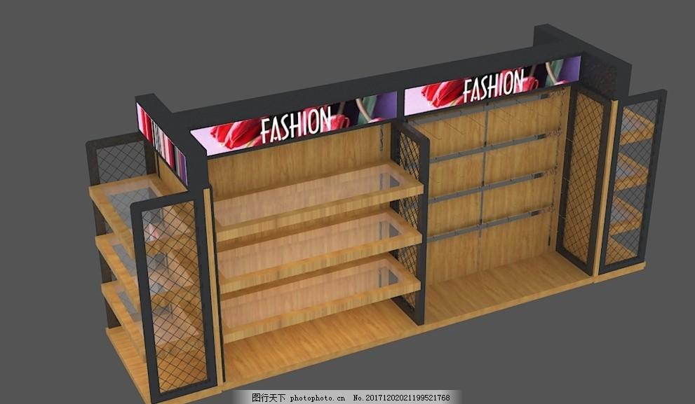 小商品展架,玻璃展架,杯子展架,中岛架,小商品展示台,3DMAX模型,设计